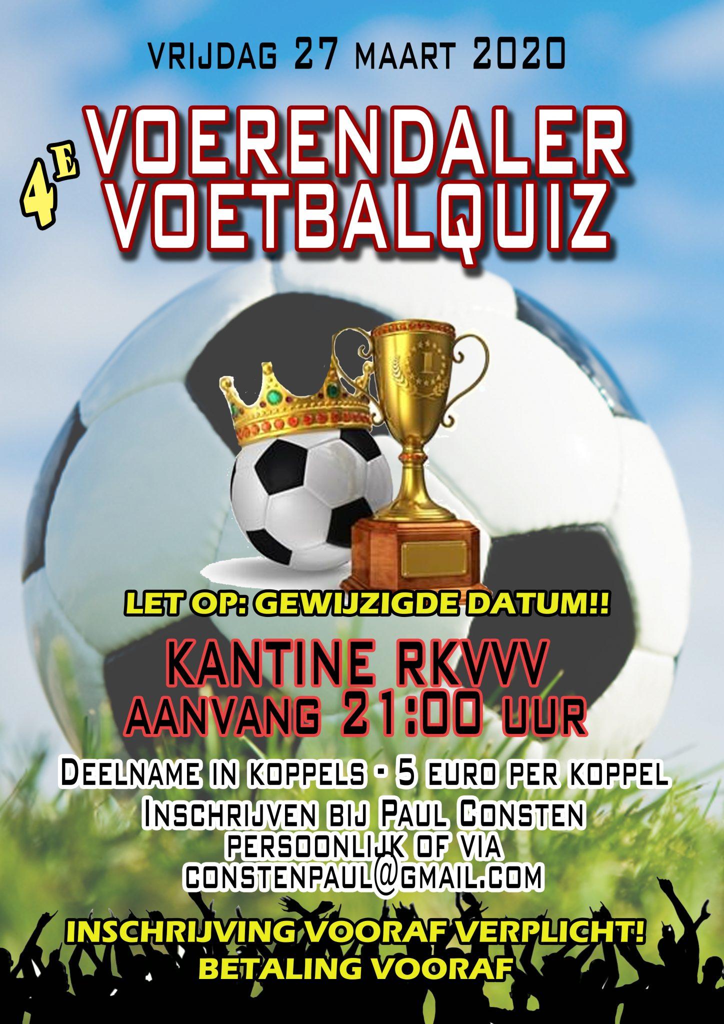 Voetbalquiz 27 maart